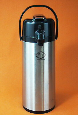 Coffee Beverage PUMP DISPENSER ~ Hot or Cold 2.2L Thermos Carafe