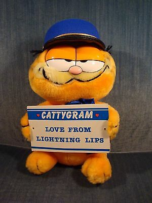 "1978 Rare DAKIN GARFIELD Messenger of Love Cattygram Plush 10"" with tag!"