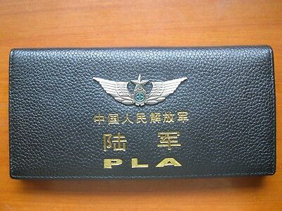 15's series China PLA Army Badge Officer Genuine Leather Wallet,CCC