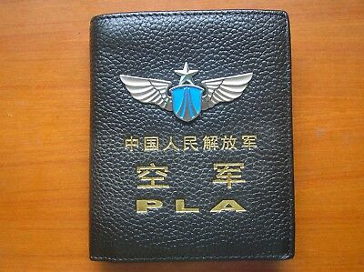 15's series China PLA Air Force Badge Officer Genuine Leather Wallet,BBB
