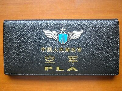 15's series China PLA Air Force Badge Officer Genuine Leather Wallet,CCC