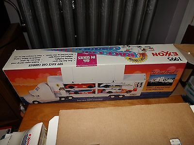 1995 Exxon Collector's Edition Toy Race Car Carrier With Cars, 4Th Series, Nib