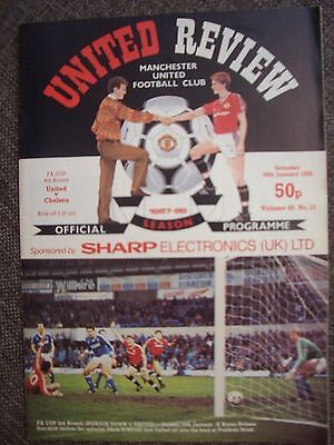 1988....MANCHESTER UNITED v CHELSEA......F.A. Cup 4th rd.....Football Programme