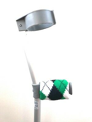 Crutch Handle Padded Covers HIGH QUALITY Cushioned Foam Pad - Green Argyle