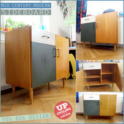 COLOURFUL UPCYCLED VINTAGE 60s ❤️ MID CENTURY MODERN SIDEBOARD KOMMODE DRAWER