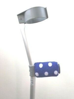 Crutch Handle Padded Covers HIGH QUALITY Cushioned Foam Pad  - Bright Blue Spots