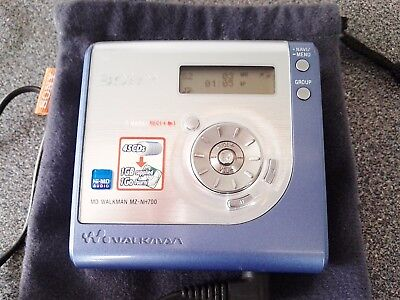 SONY MZ NH 700 MD HI MD  MiniDisc player/recorder with accessories