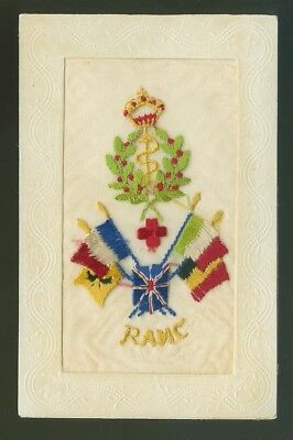 Silk Postcard The Royal Army Medical Corps