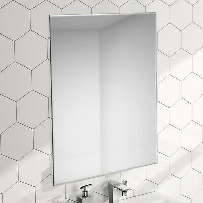 ENKI 500 x 700 Rectangular Bathroom Wall Glass Frameless Mirror Bevelled HORIZON