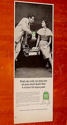 1957 Chevy Bel Air For Quaker State Oil Canadian Ad - Vintage 50S Retro