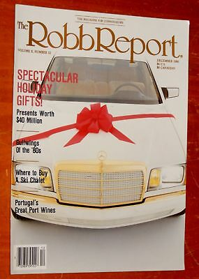 White 1987 Mercedes Benz With Gold Chrome On 1986 Robb Report Magazine Cover
