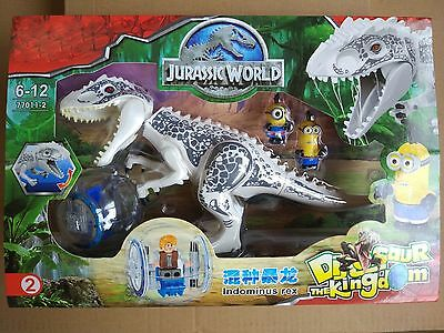White Jurassic World Building Toys Gray Indominus Rex fits lego