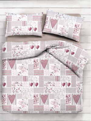 Trapunta Invernale 300 Gr Cotone Matrimoniale Shabby Rosa Made In Italy