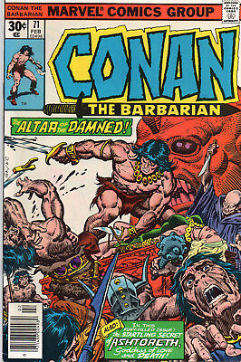 Marvel CONAN THE BARBARIAN 1977 12 Issues 70 to 81 VF