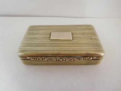 Interesting Antique Solid Silver Snuff Box - Apprentice / Provincial Piece