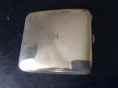 Stylish Antique Hallmarked Silver Cigarette Case Heavy