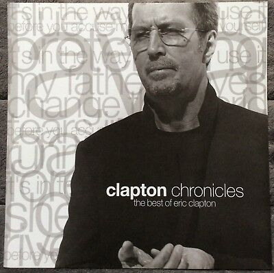 Eric Clapton Chronicles: The Best Of RARE promo 12 x 12 poster flat '99