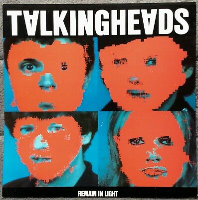 Talking Heads Remain In Light RARE promo 12 x 12 poster flat '80
