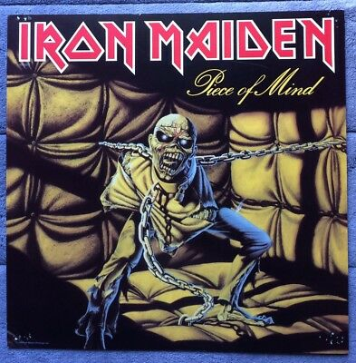 Iron Maiden Piece Of Mind '83 RARE promo 12 x 12 poster flat