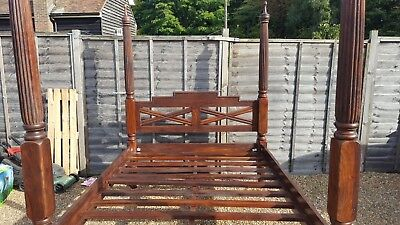 Solid Mahogany Double Bed Imported From India