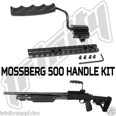 Trinity Weaver mounted grip and rail mount fits mossberg 500 12 gauge accessory