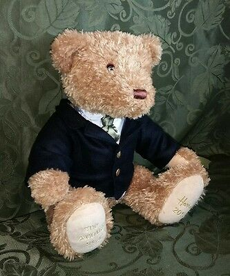 """Harrods 13"""" Foot Dated 2010 Annual Jointed Teddy Named Woodman Bear VGC Cute"""