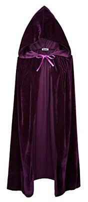 VGLOOK Kids Hooded Cloak Cape For Halloween Cosplay Costumes (Purple)