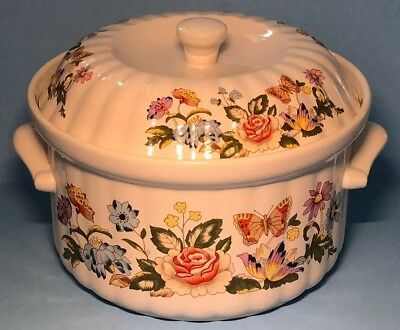 Superb Aynsley Histyle Oven To Tableware Cottage Garden Lidded Casserole Dish