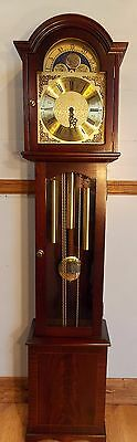 Grandmother Clock-UK personal deliveries/exc cond/exc working order/triple chime