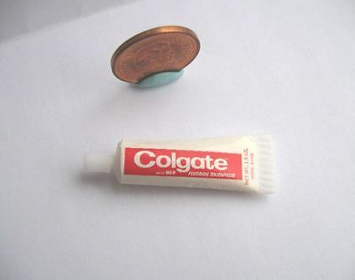 Dollhouse Barbie Miniature Colgate Toothpaste Tube 1:6 Scale