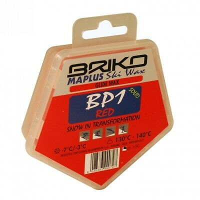 Briko-Maplus Bp1 Red Base Paraffin Ski and Snowboard Solid Wax (100 Grammes)
