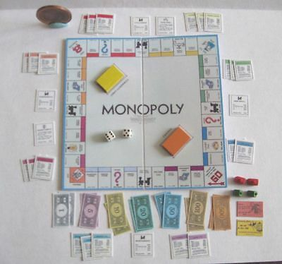 Dollhouse Barbie Miniature Monopoly Game Set 1:6 Scale