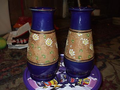 A Pair Of Doulton & Slaters Patent Vases - 6959 -  Bb2 - Rosina Harris