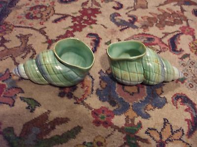 A Pair Of Shorter And Son Shell Posie Vases