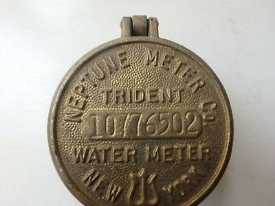 TRIDENT-new york- brass neptune water meter cover with glass