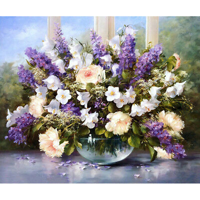 Lavender Bouquet DIY Oil Painting On Canvas (no framed)