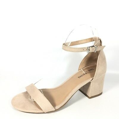 64cfc01a5c3 Call It Spring Stangarone Womens Size 6 M Bone Heel Ankle Strap Sandals.
