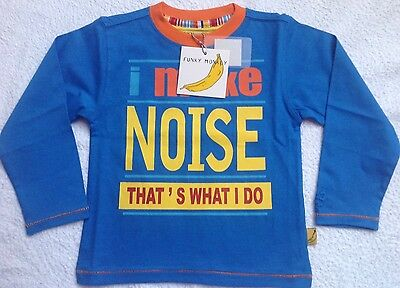 BNWT Boys Age 7-8 Top Long Sleeve T Shirt
