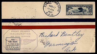 Mayfairstamps Cleveland Oh Dec 17 1927 FFC Air Mail Cover W/ St Louis Buffalo &