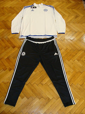 Chelsea Soccer Tracksuit Top Climacool Pants Adidas Football Training Suit XL