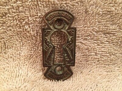 Antique Vintage Fancy Brass Eastlake Victorian Key Hole Keyhole Cover
