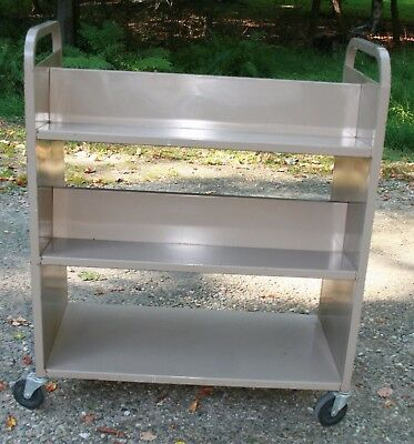 Vintage library book cart