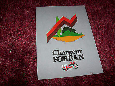 Prospectus  / Brochure MAILLEUX Chargeur Forban 199? //