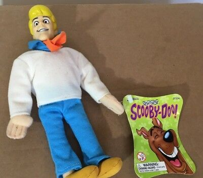 Freddy Plush Beanie Scooby-Doo Cartoon Network Groovy Bean Bag Plush/Vinyl NWT