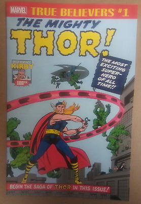 THOR #1 TRUE BELIEVERS reprints stories from JIM 83 and 85 JACK KIRBY