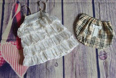 Burberry Baby Girls Designer Clothes Bundle Dress & Knickers 3 Months VGC