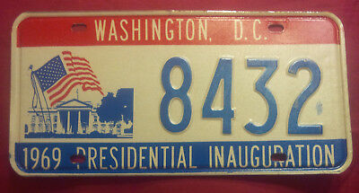 1969 District Of Columbia 8432 Inaugural Inauguration License Plate