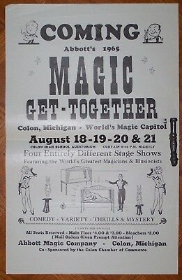 COMING ABBOT'S MAGIC GET TOGETHER 1965 Broadside Flyer Colon, Michigan