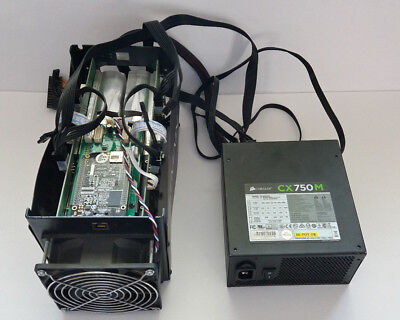 Bitmain Antminer S5 1.15TH with Corsair CX750M Power Supply