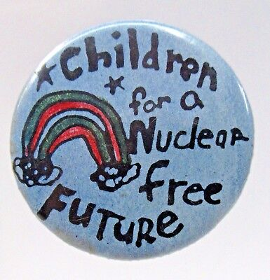 1970's CHILDREN FOR A NUCLEAR FREE FUTURE pinback button